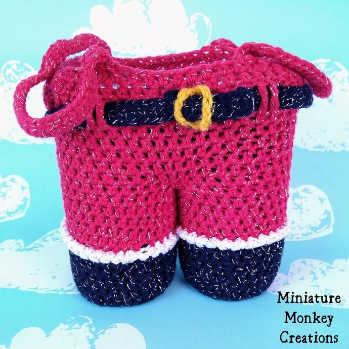Sparkly Santa Pants Gift Bag