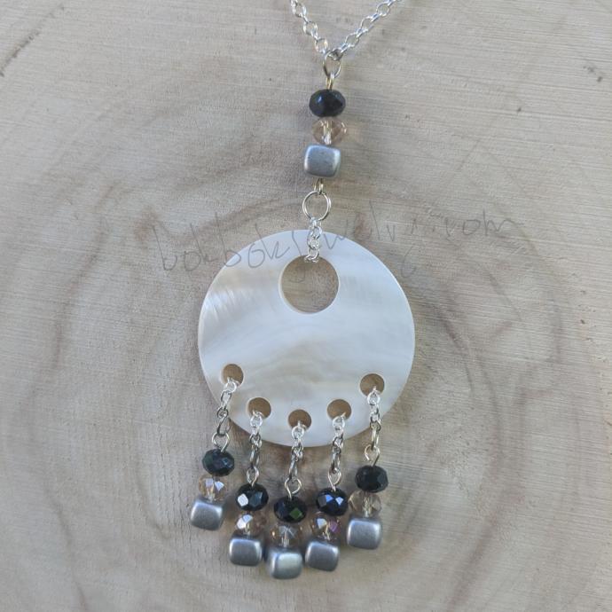Handmade Beaded Shell Pendant Necklace