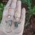 Handmade Copper and Quartz Earrings