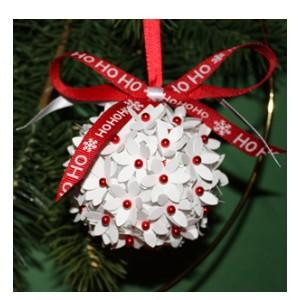 paper flower christmas ball ornament by paperbilities4you on zibbet - Flower Christmas Ornaments