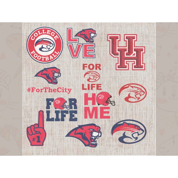 Houston Cougars Svg,football svg,football gift,Houston Cougars, football,Houston