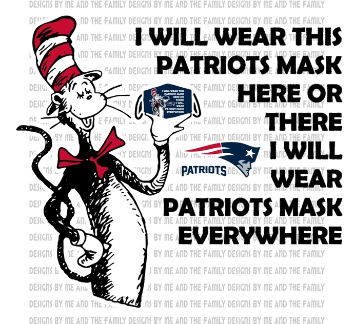 Cat in the Patriots mask, I will wear this Patriots mask here or there I will