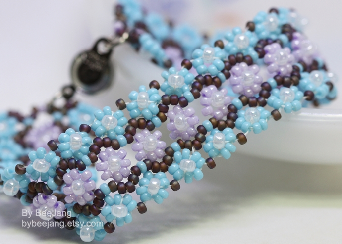 Beading Tutorials, Astera Bracelet, Digital Download, PDF