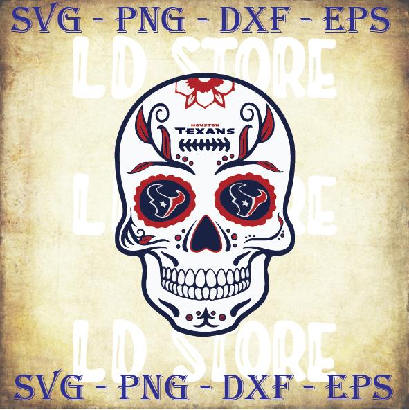 Houston TEXANS Sugar Skull SVG - Sugar Skull Svg Files For Cricut - Texans Svg -
