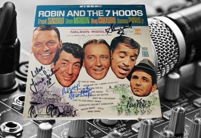 Frank Sinatra Dean Martin Sammy Davis Jr. Bing Crosby signed album