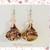 Marble Crystal Earrings Handmade Polymer Clay Jewelry