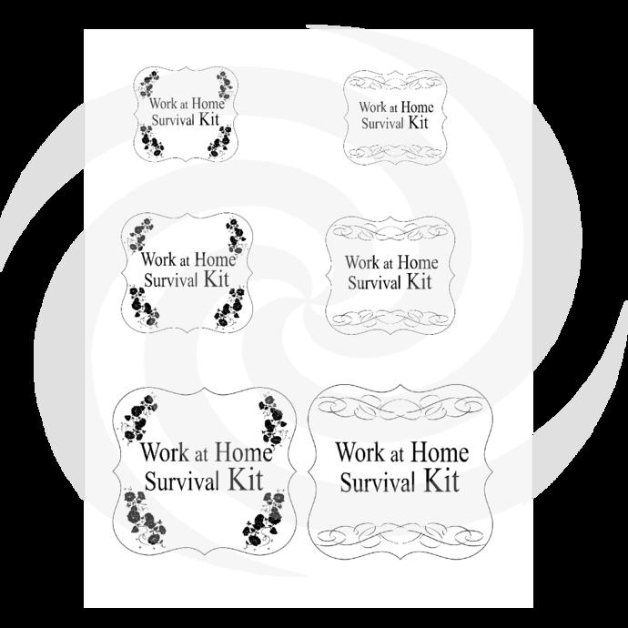 Work at Home Survival Kit-Digital ClipArt-Art Clip-Gift