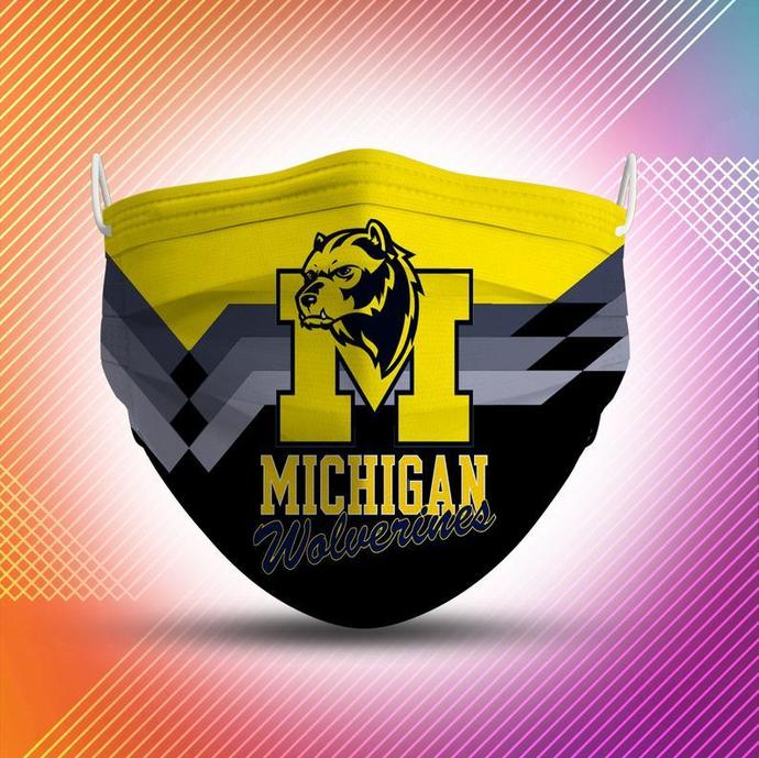 Michigan Wolverines Protective Face Mask Cotton mask Washable mask Face Covering