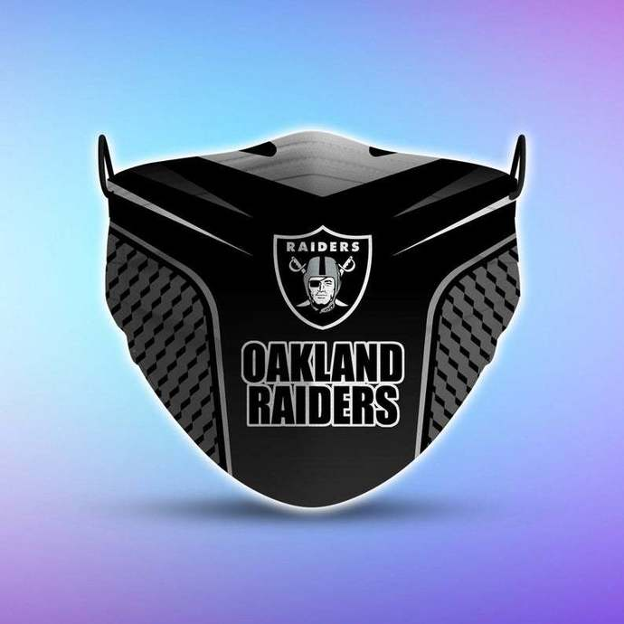 Oakland Raiders Style 5 Face Mask, Adult Face Mask, Sport Face Mask, Reusable