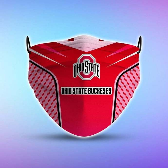 Ohio State Buckeyes Style 5 Face Mask, Adult Face Mask, Sport Face Mask,