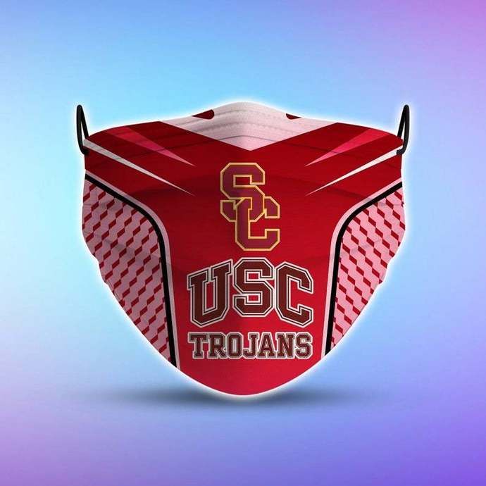 USC Trojans Style 5 Face Mask, Adult Face Mask, Sport Face Mask, Reusable Face