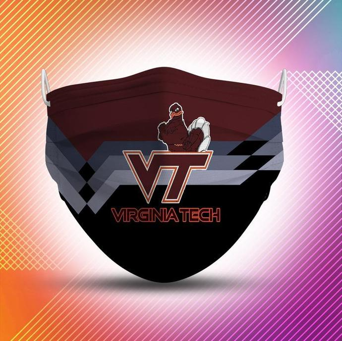 Virginia Tech Hokies Protective Face Mask Cotton mask Washable mask Face
