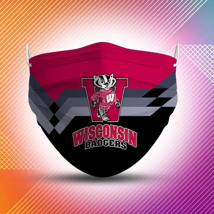 Wisconsin Badgers Protective Face Mask Cotton mask Washable mask Face Covering