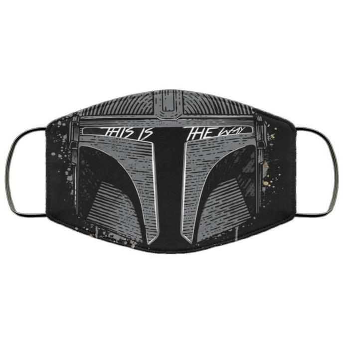 Mandolorian This Is The Way Unisex 3 Layer Face Mask Adult mask, kids Face