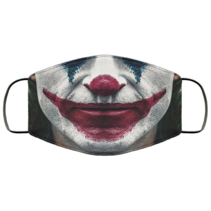 Joker Joaquin Phoenix Handmade Face Mask, Unisex3 Layer Face Mask,Adult Kid Face