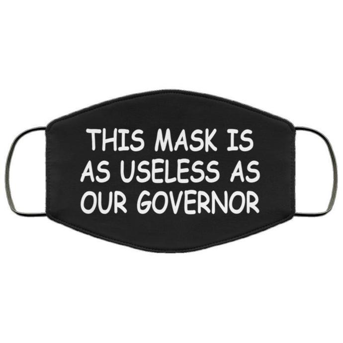 Useless Governor Handmade Face Mask, Unisex 3 Layer Face Mask,Adult Kid Face