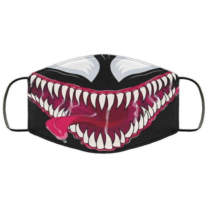 Venom Symbiote Unisex 3 Layer Face Mask, Handmade Face Mask,Adult Kid Face