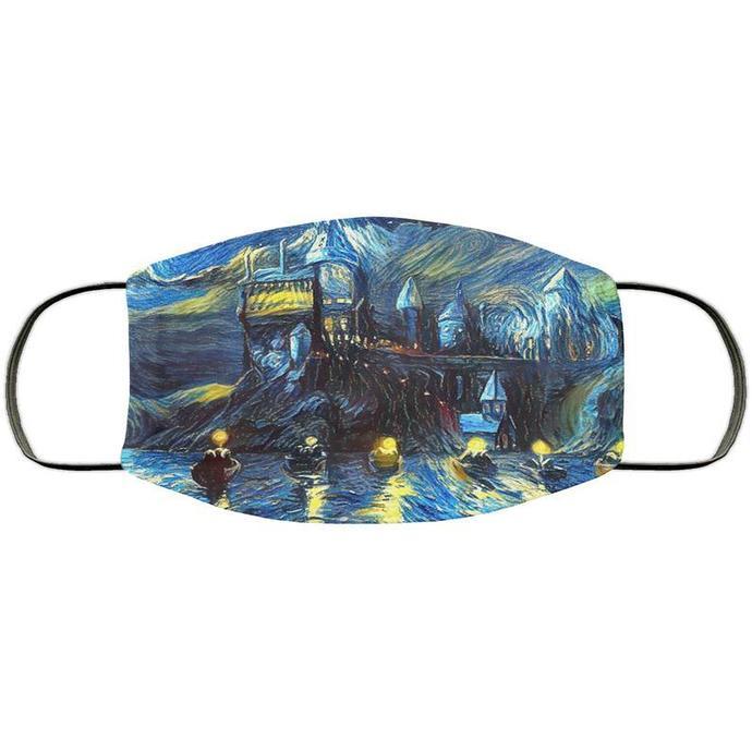 Hogwarts Starry Night Handmade Face Mask
