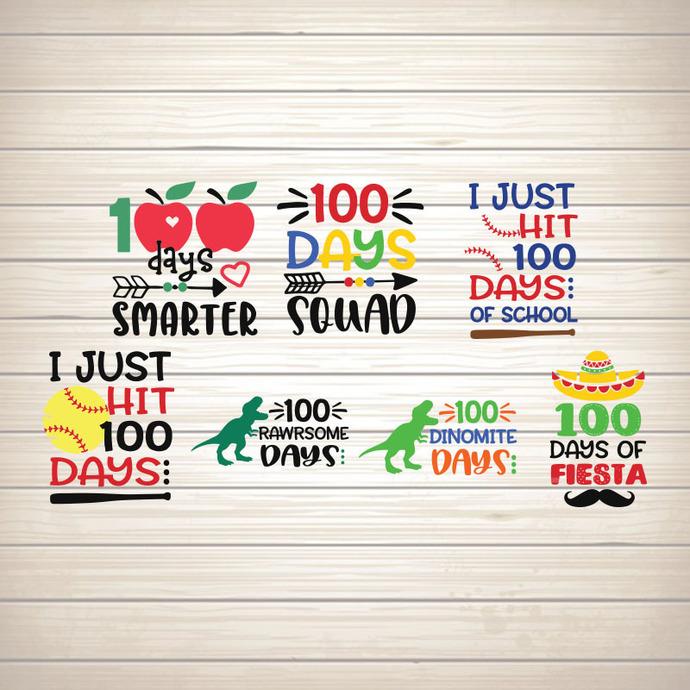Boy 100 Days Of School Bundle Svg 100th Day Of By Seniorsvg On Zibbet