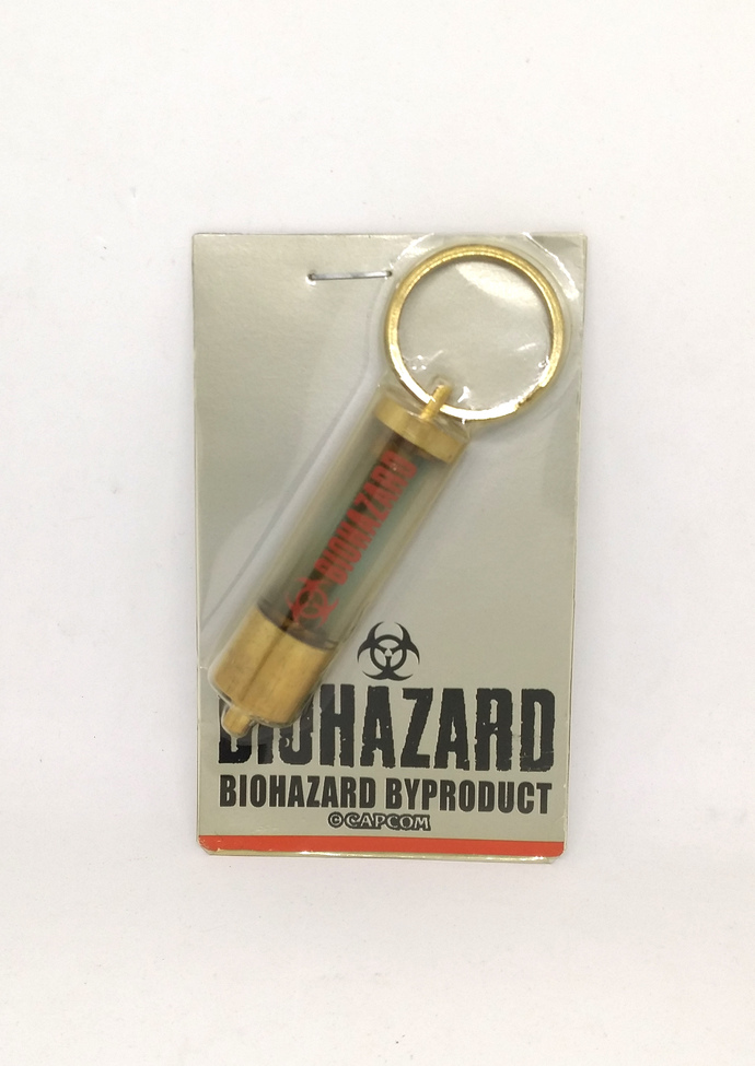 BIOHAZARD BYPRODUCT Promo G-Virus Glass Tube Bottle (Pale Green Liquid) Keychain