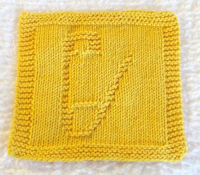 Knitting Cloth Pattern - BABY SAFETY PIN - pdf