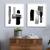 Black White Geometric Abstract Painting, Minimalist Art, set of 2 black white ,