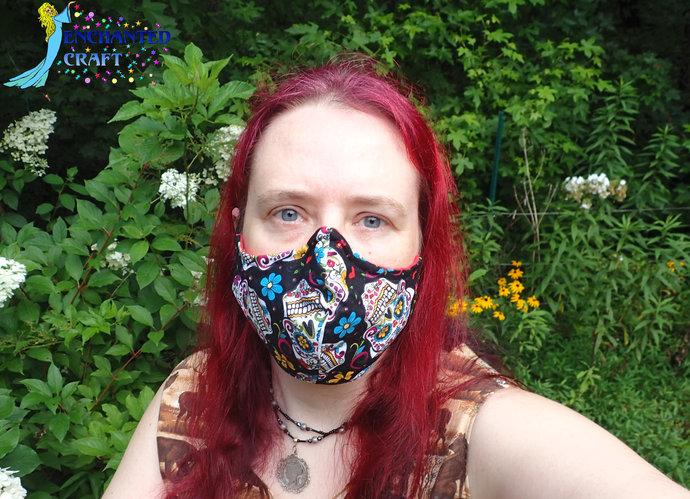 fun handmade washable fabric facemask 100% cotton & flannel Plaid Zig Zag