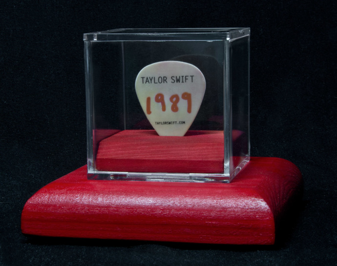 Taylor Swift guitar pick display