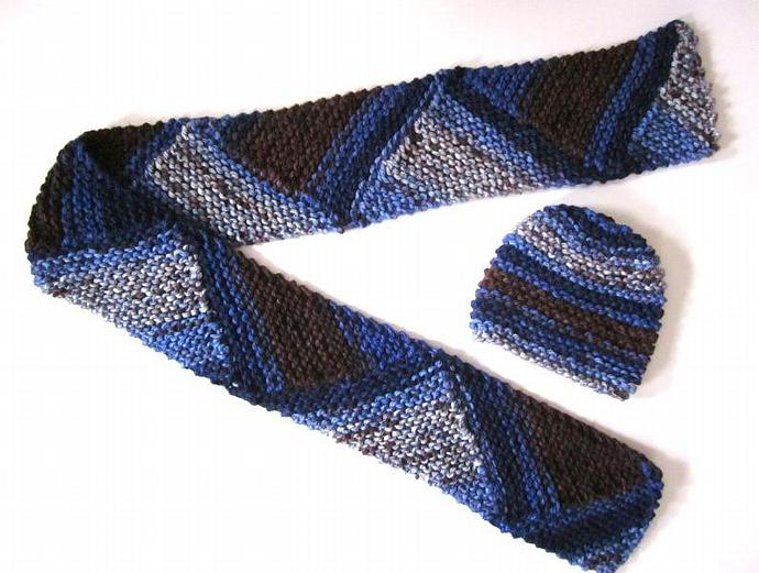 Designer Knit Hat & Scarf Set for Men