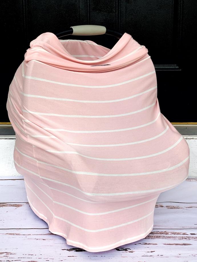 Blush & Ivory Striped Multi-Use Cover