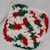 Pot Holders Set of 2 Red Green and White Hand Crocheted