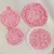 Hand Crocheted Pink Pot Scrubber, Pot Holder, & Hot Pad Set