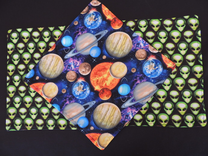 NONpaper kitchen towels~eco-friendly-Aliens and Planets