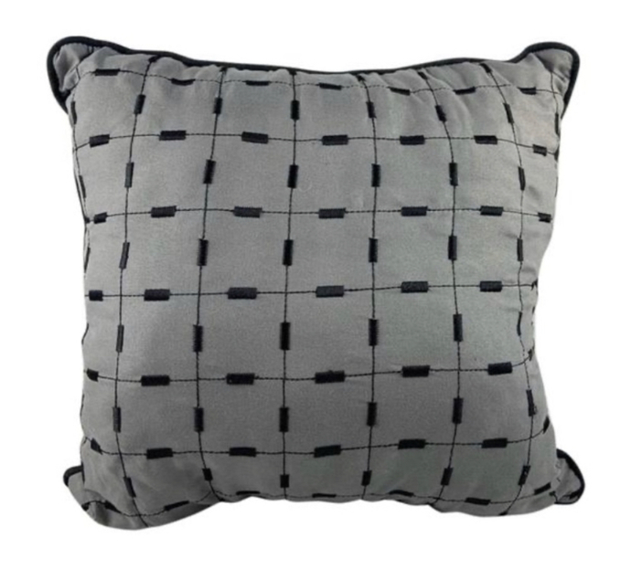 16x16 grey texturized couch sofa pillow