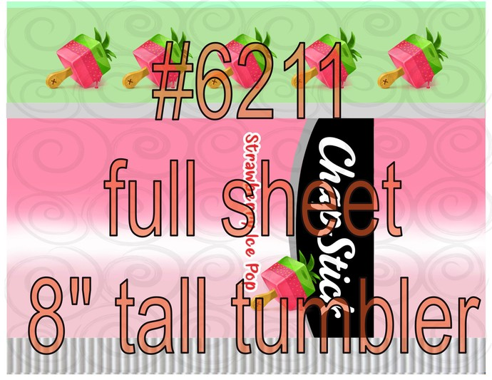 "Waterslide ""#6211   8 inch tall 20oz Skinny Wrap Strawberry Pop Chap Stick"""