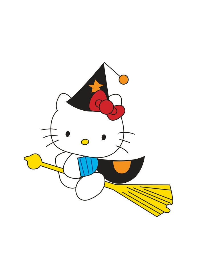 Hello Kitty Clipart. Files for Cutting, Printing, Creativity, Scrapbooking