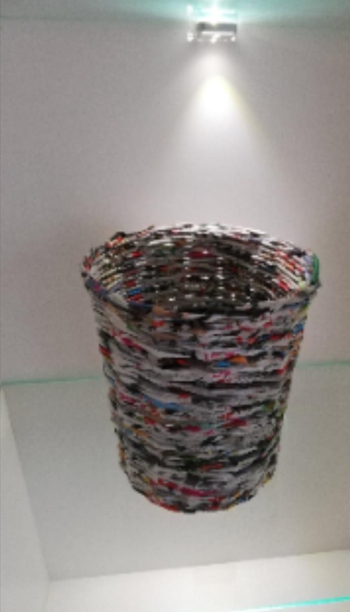 Storage basket, original trash can From Newspaper, trash can, storage can