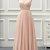 Pink Chiffon Straps V-neckline Bridesmaid Dress, Light Pink Party Dress