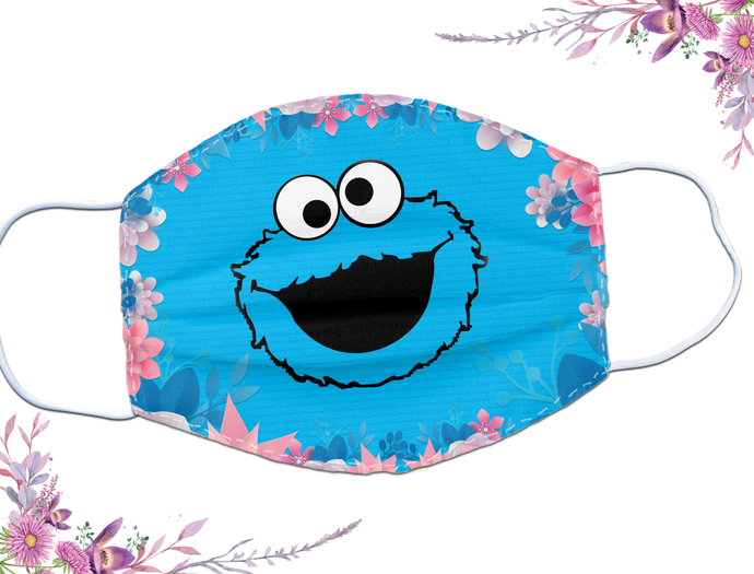 Cookie Monster facemask funny for fan cartoon