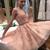 Princess A-line Short Pink Homecoming Dress
