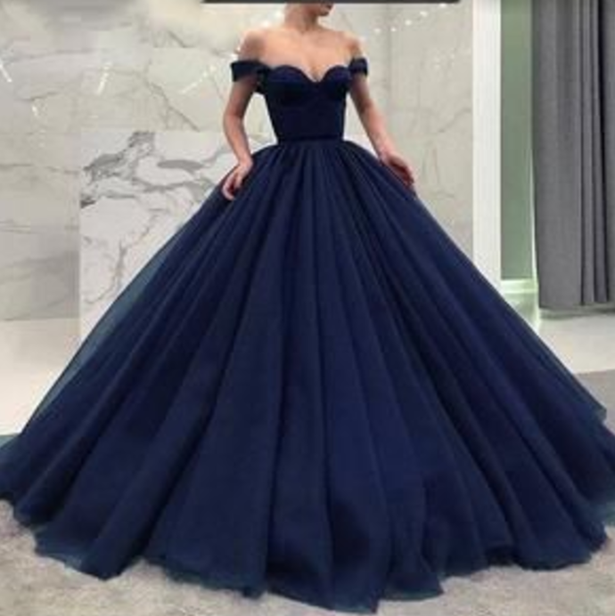 Off the Shoulder Modest Prom Dresses, Prom Gown