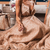 glitter A-line gold sparkles long prom dress with pluning neckline and spaghetti