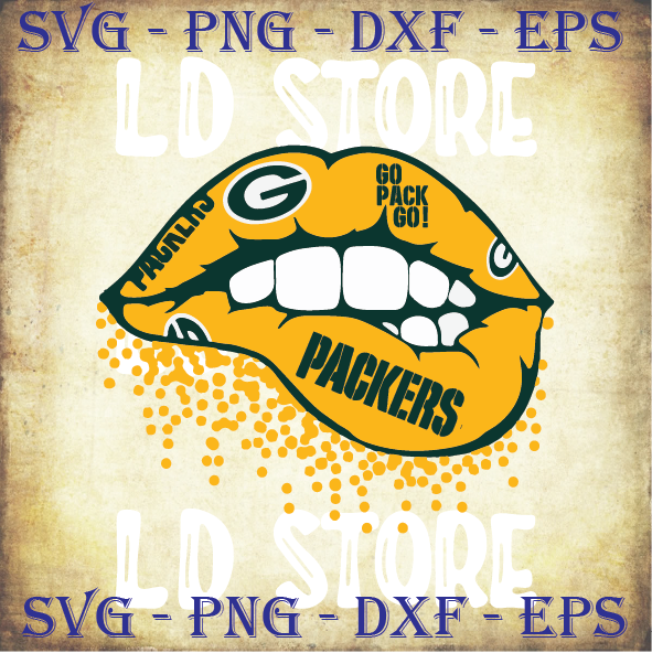 Green Bay Packers Inspired Lips svg, Packers Team svg, Packers Svg, Packers