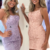 Tie Back Appliqued Sheath Pink Short Prom Dress Homecoming Dress