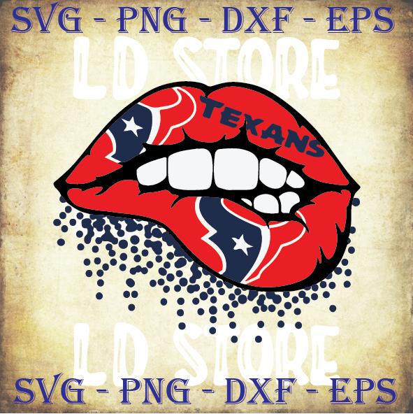 Houston Texans Inspired Lips Svg, Texans Svg Files For Cricut, Texans NFL