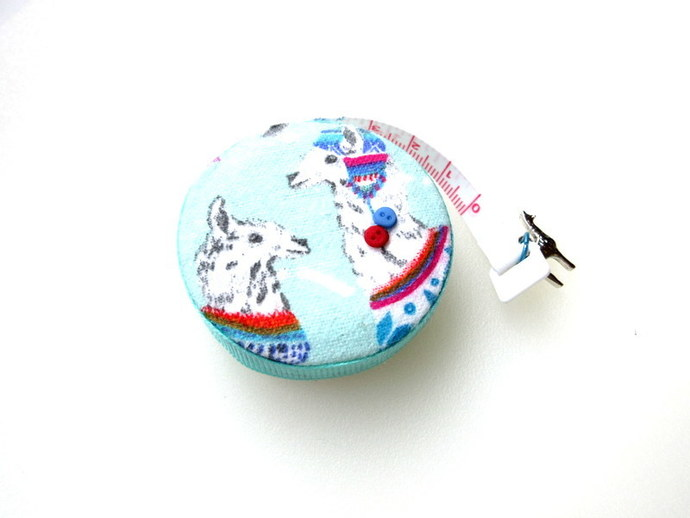 Small Tape Measure Dressed Alpacas Llamas Retractable Measuring Tape