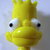 Bart Simpson Glass Realistic Button