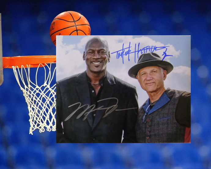 Tinker Hatfield and Michael Jordan 8 by 10 signed photo