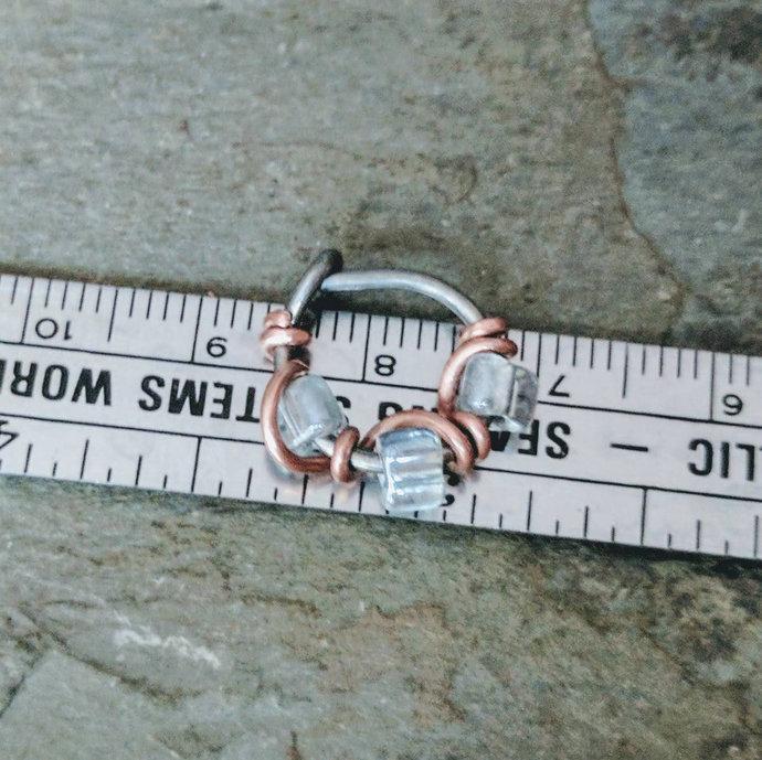 conch hoop earring, 16g cartilage hoop, 16g nose ring, 16 gauge hoop, 16g septum