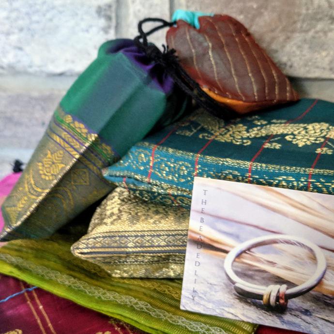 spectrum gemstone hoops-- primitive series-- handmade by thebeadedlily